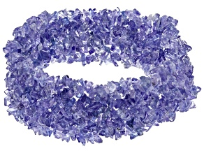 Pre-Owned Blue Stretch Bracelet Approximately 150.00ctw