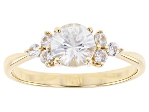 Pre-Owned White Zircon 10k Yellow Gold Ring 1.25ctw