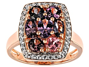 Pre-Owned Multi-Color Spinel 18k Gold Over Silver Ring 2.29ctw
