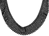 Pre-Owned Black Spinel Rhodium Over Silver Necklace Approx. 250.00ctw
