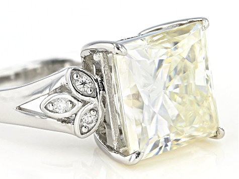 Pre-Owned Moissanite Platineve Ring 8.47ctw DEW.
