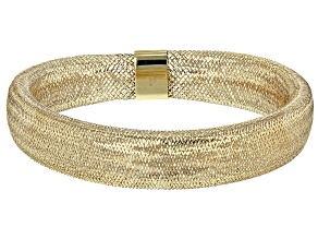Pre-Owned 10K Yellow Gold 11mm Domed Stretch Mesh Bracelet