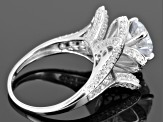 Pre-Owned White Cubic Zirconia Sterling Silver Ring 5.68ctw