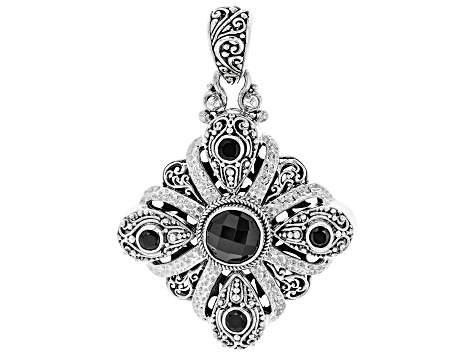 Pre-Owned Black Spinel Silver Pendant 4.51ctw