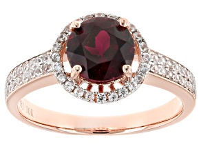 Pre-Owned Grape Color Garnet 10k Rose Gold Ring 1.63ctw