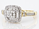 Pre-Owned White Diamond 10K Yellow Gold Ring 0.40ctw