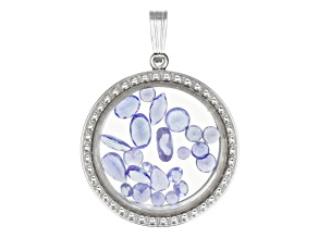 Pre-Owned Tanzanite 2.50ctw Average Rhodium Over Sterling Silver Pendant