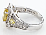 Pre-Owned Yellow Apatite Sterling Silver Ring 2.64ctw