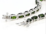 Pre-Owned Chrome Diopside Rhodium Over Sterling Silver  Bracelet 13.15ctw