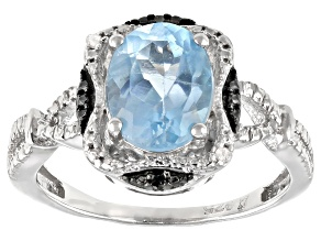 Pre-Owned Sky Blue Topaz Rhodium Over Sterling Silver Ring 1.90ctw