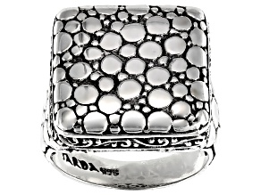 Pre-Owned Sterling Silver Quad Ring