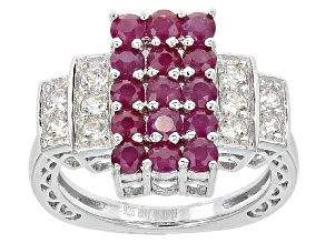 Pre-Owned Red Ruby Sterling Silver Ring 1.65ctw