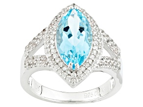 Pre-Owned Sky Blue Topaz Sterling Silver Ring 3.45ctw