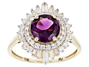 Pre-Owned Purple Garnet 10k Yellow Gold Ring 2.85ctw