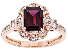 Pre-Owned Purple Garnet 10k Rose Gold Ring 2.05ctw