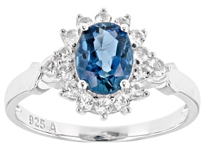 Pre-Owned London Blue Topaz Rhodium Over Sterling Silver Ring 2.00ctw