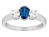 Pre-Owned Blue Apatite Sterling Silver Ring 1.08ctw