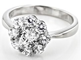 Pre-Owned White Cubic Zirconia Platinum Over Sterling Silver Ring 2.32ctw