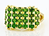 Pre-Owned Chrome Diopside18K Yellow Gold Over Sterling Silver Ring 2.65ctw