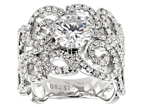 Pre-Owned Moissanite Platineve Ring 2.62ctw DEW