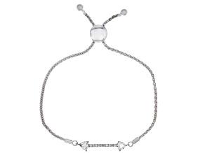 Pre-Owned Moissanite Platineve Adjustable Bracelet .70ctw DEW