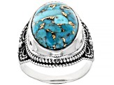 Pre-Owned Turquoise Solitaire Sterling Silver Ring