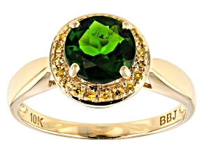 Pre-Owned Green Russian Chrome Diopside 10k Yellow Gold Ring 1.26ctw