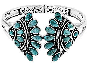 Pre-Owned Turquoise Sterling Silver Bangle Bracelet