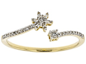 Pre-Owned White Diamond 10K Yellow Gold Ring 0.15ctw