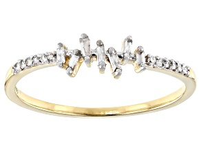Pre-Owned White Diamond 10K Yellow Gold Ring 0.10ctw