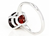 Pre-Owned 10k White Gold Oval Hessonite Garnet Solitaire Ring
