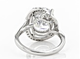 Pre-Owned White Zirconia from Swarovski ® Rhodium Over Sterling Silver Ring 8.89ctw