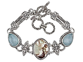 Pre-Owned Aquaprase Sterling Silver Bracelet