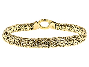 Pre-Owned 14k Yellow Gold Hollow Mirrored Byzantine Bracelet 8 inch 8mm