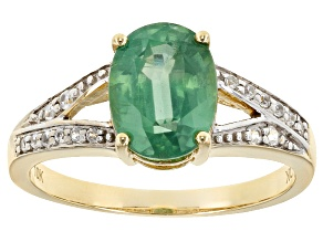 Pre-Owned Green Kyanite 10k Yellow Gold Ring 2.12ctw