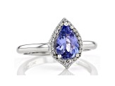 Pre-Owned Blue Tanzanite Rhodium Over Silver Ring 1.32ctw
