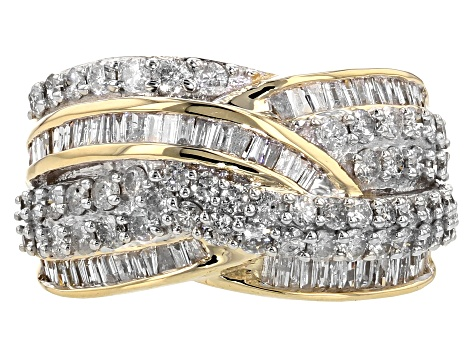Pre-Owned White Diamond 10k Yellow Gold Ring 2.00ctw