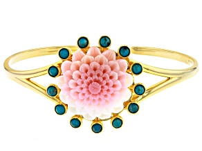 Pre-Owned Sleeping Beauty Turquoise 18k Gold Over Silver Bracelet
