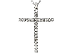 Pre-Owned White Diamond 10k White Gold Pendant 0.13ctw