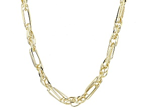 Pre-Owned 14k Yellow Gold Hollow Figaro Rope Link Necklace 24 inch 5mm