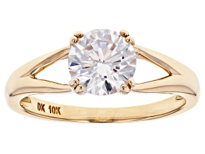 Pre-Owned White Cubic Zirconia 10k Yellow Gold Ring 2.18ctw