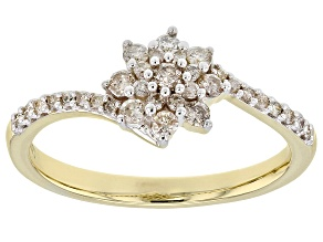 Pre-Owned White Diamond 10k Yellow Gold Ring 0.35ctw