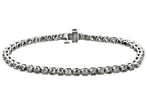 Pre-Owned diamond 10k white gold bracelet 4.00ctw