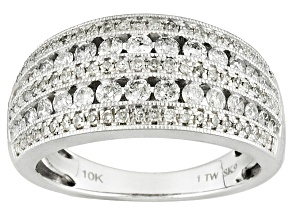 Pre-Owned Diamond 10k White Gold Ring 1.00ctw
