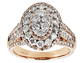 Pre-Owned Diamond 10k Rose Gold Ring 2.00ctw