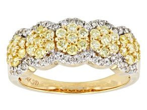 Pre-Owned Yellow And White Diamond 14k Yellow Gold Ring .71ctw