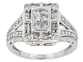 Pre-Owned Diamond 10k White Gold Ring, 1.00ctw