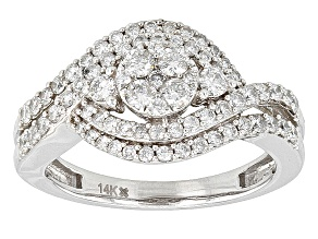 Pre-Owned Diamond 14k White Gold Ring 1.00ctw