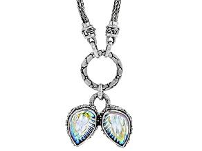 Pre-Owned Multicolor Zero Saturn™ Mystic Quartz® Silver Necklace