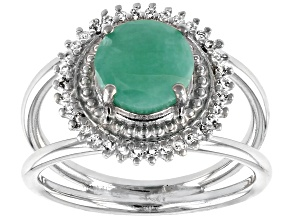 Pre-Owned Green Brazilian Emerald Sterling Silver Ring 1.78ctw